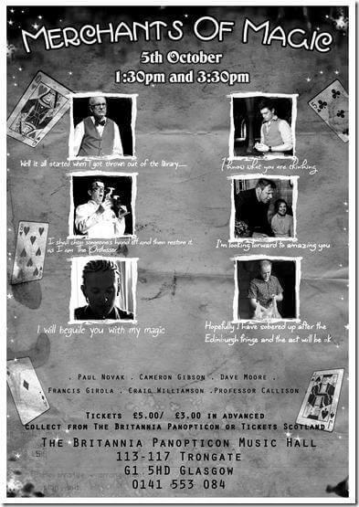 Merchants of Magic - Dave Reubens - Glasgow