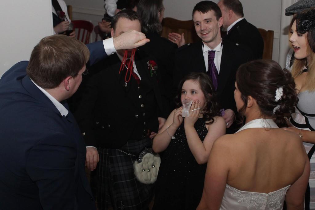 Fun loving wedding guests